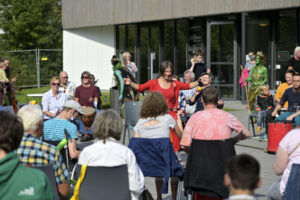 Drum Circle beim Aktionstag Inklusion in Bad Bevensen, Kurhaus Bad Bevensen